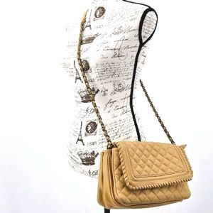 BIG BUDDHA Quilted Vegan Leather Chain Strap Bag